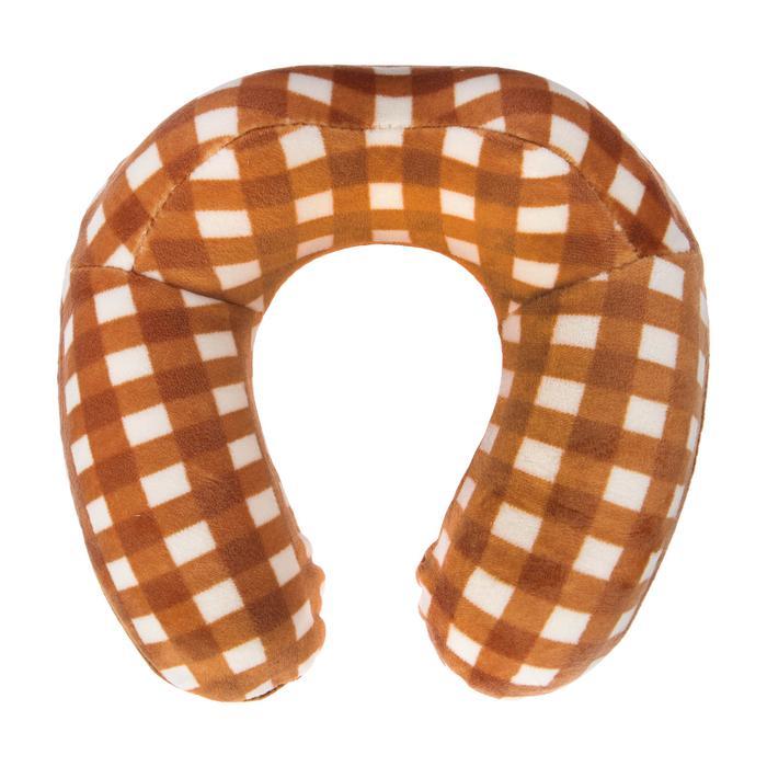 Подушка дорожная детская для шеи, цвет коричневый Крошка Я
