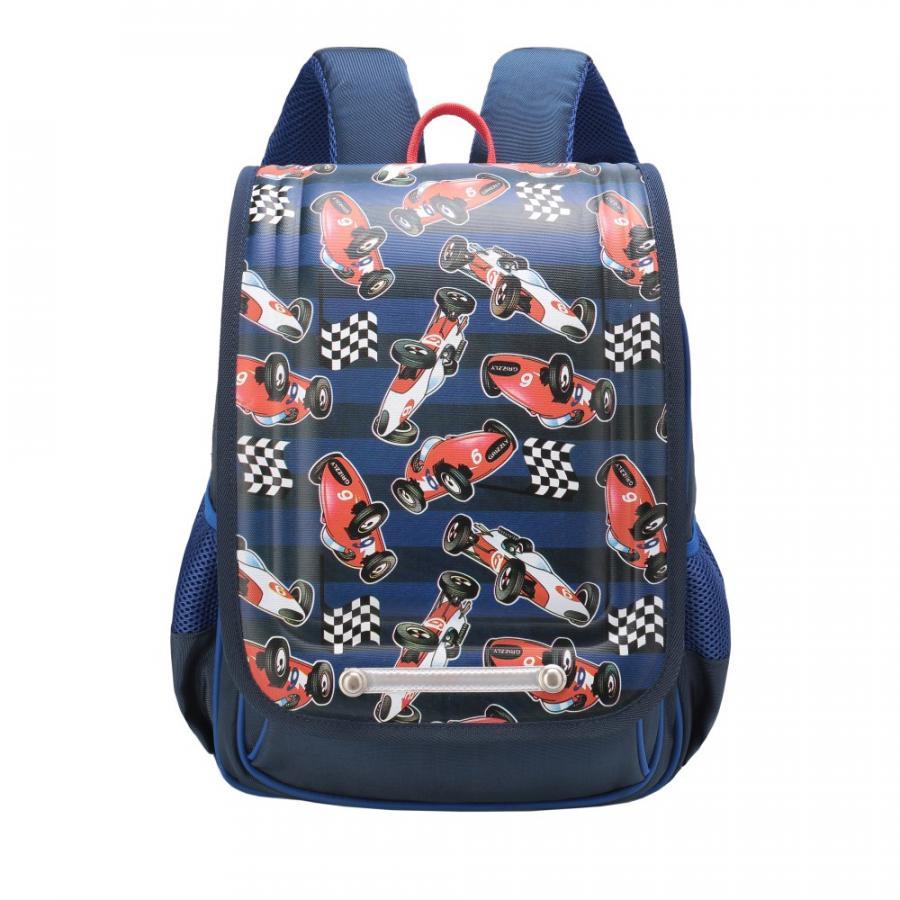 Купить Школьный рюкзак для мальчика Grizzly RA-976-3 синий, Школьные рюкзаки и ранцы