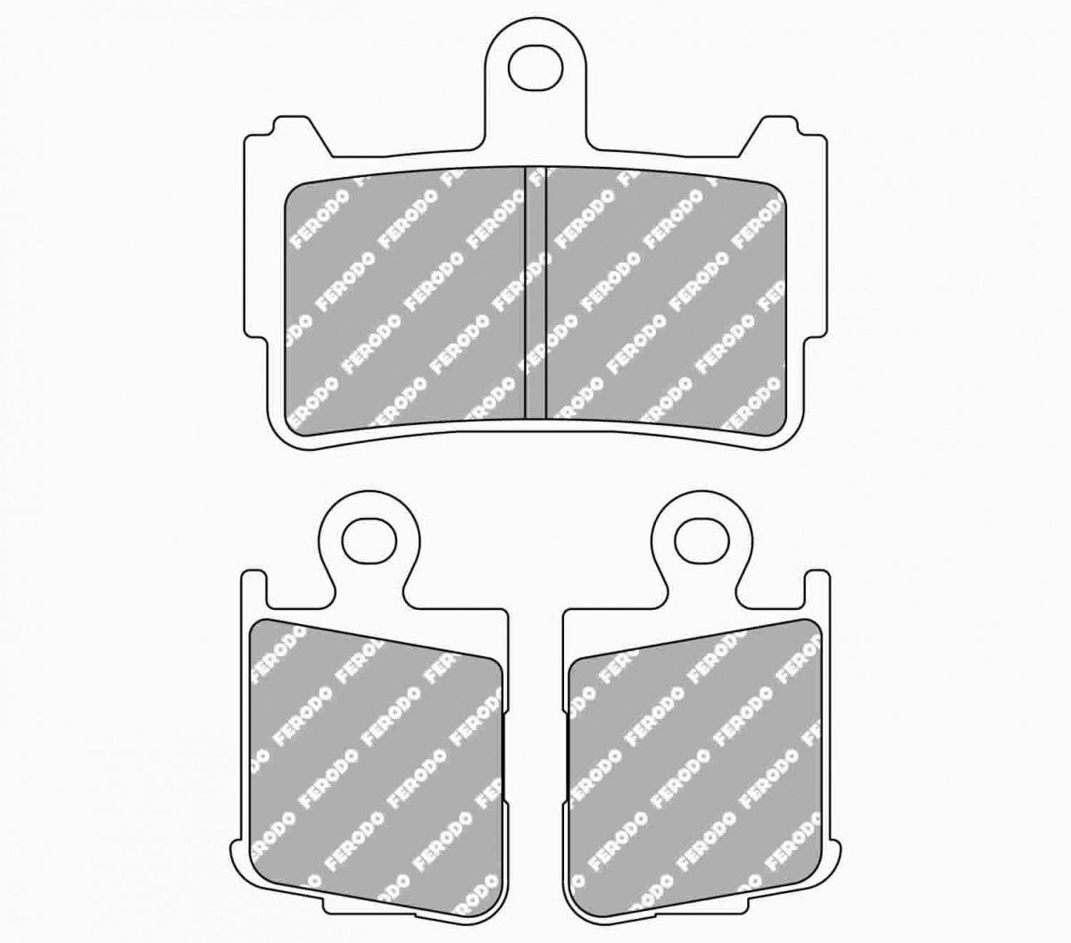 Тормозные колодки передние Ferodo FDB2259ST для мотоциклов