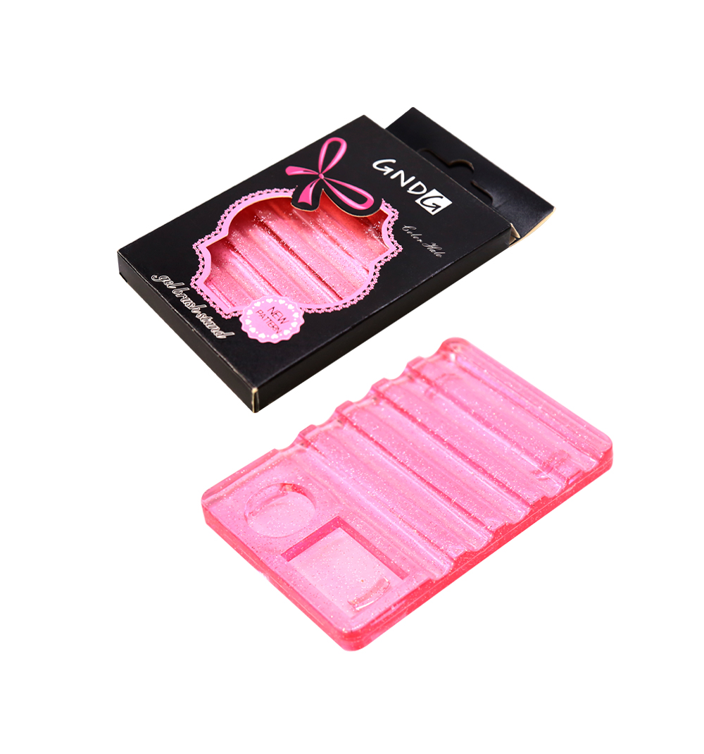 Подставка Dona Jerdona для кистей розовая с блестками