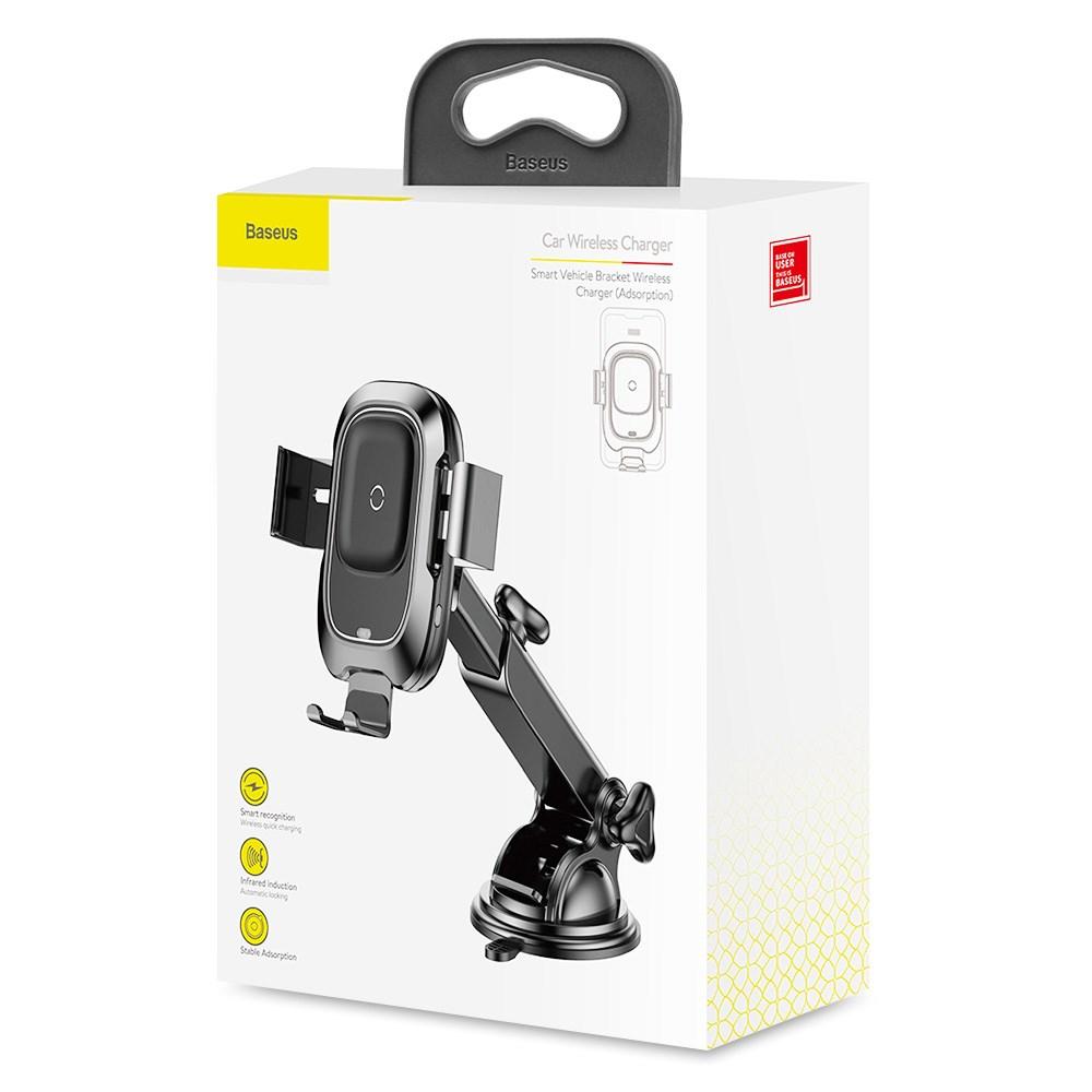 Держатель для телефона с беспроводной зарядкой Baseus Smart Vehicle Bracket (WXZN-B01)
