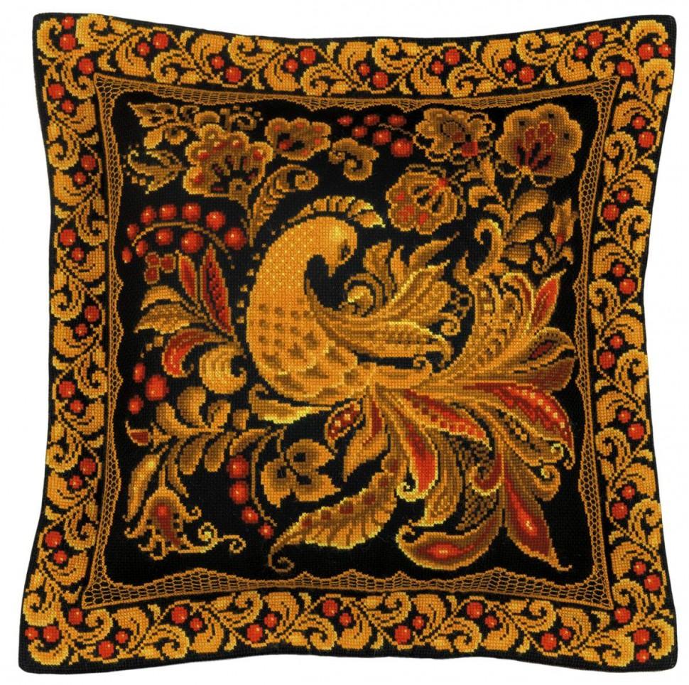 Набор для вышивания Риолис 1758 Подушка/панно Хохлома 40х40 см фото