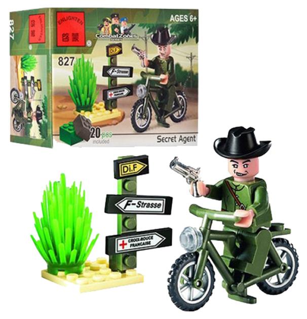 Конструктор пластиковый BRICK Военная Техника Мотоцикл 827