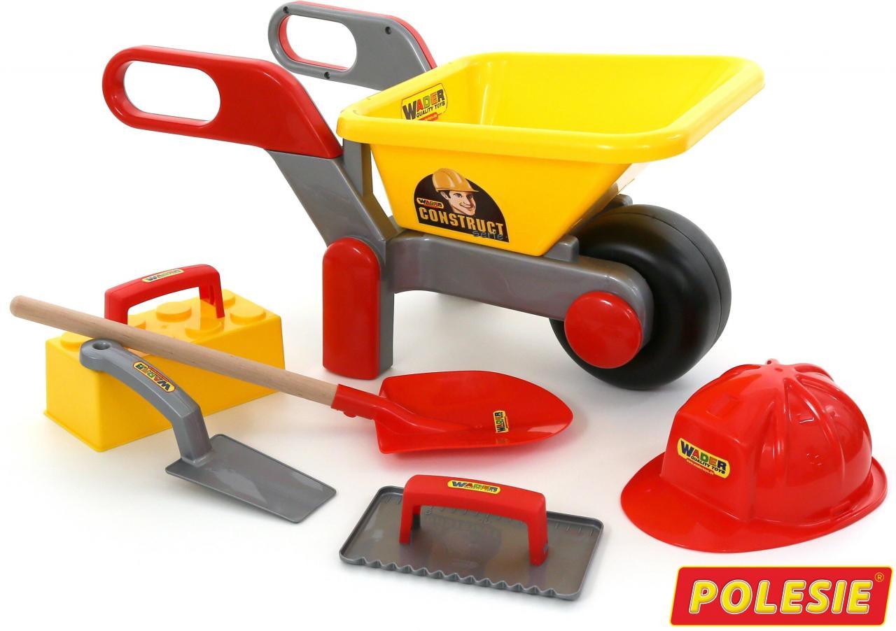 Купить Тачка №4 Construct + Набор каменщика №4 Construct 5 элементов Wader 50229_PLS,