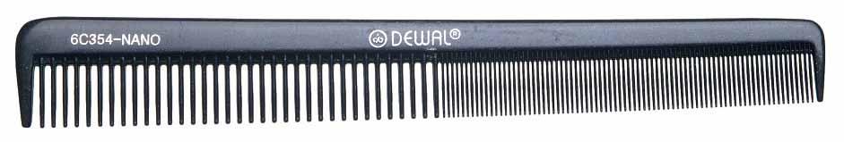 Купить Расческа Dewal Nano Комбинированная антистатик 18, 5 см Черный