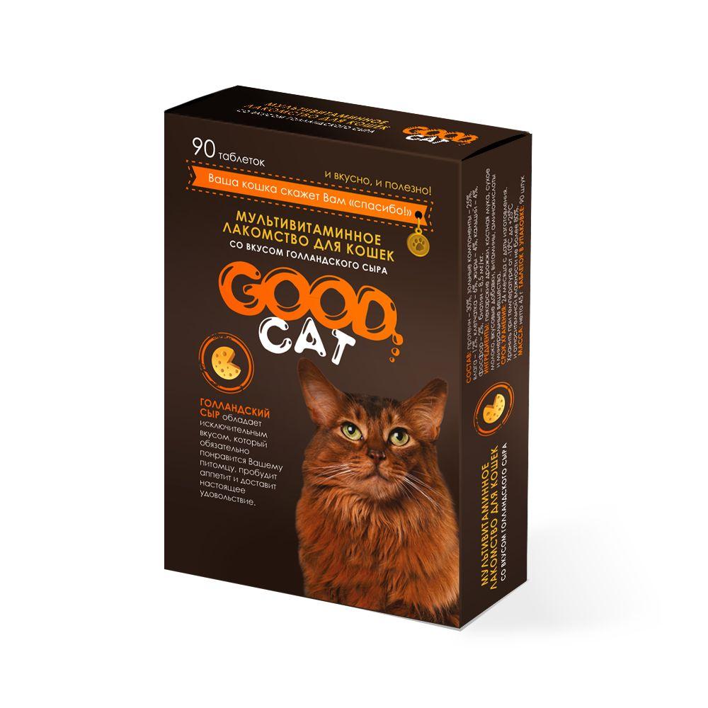 Лакомство для кошек GOOD CAT сыр 1шт, 0.045кг