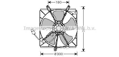 Вентилятор охлаждения двигателя Toyota Avensis 97