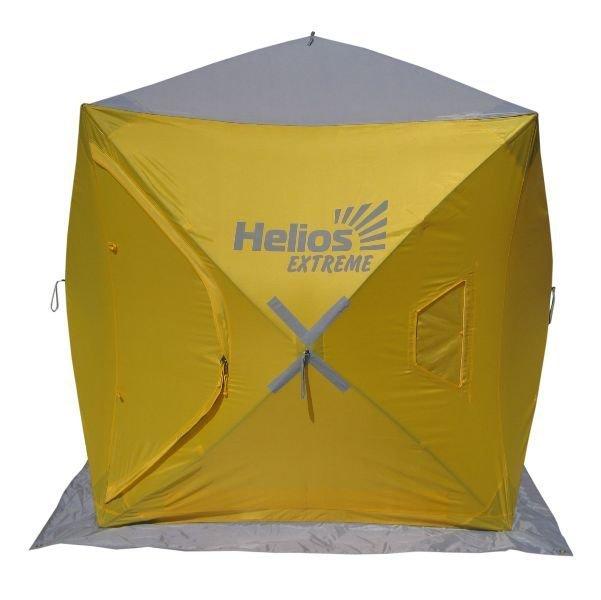 Палатка-автомат Helios Extreme двухместная желтая/серая