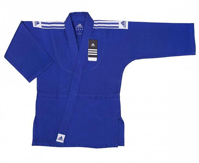 Кимоно для дзюдо подростковое Adidas Training синее 160 см