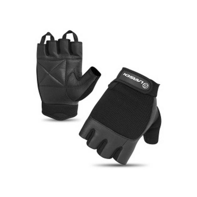 Перчатки для фитнеса Larsen 16 8341, черные,