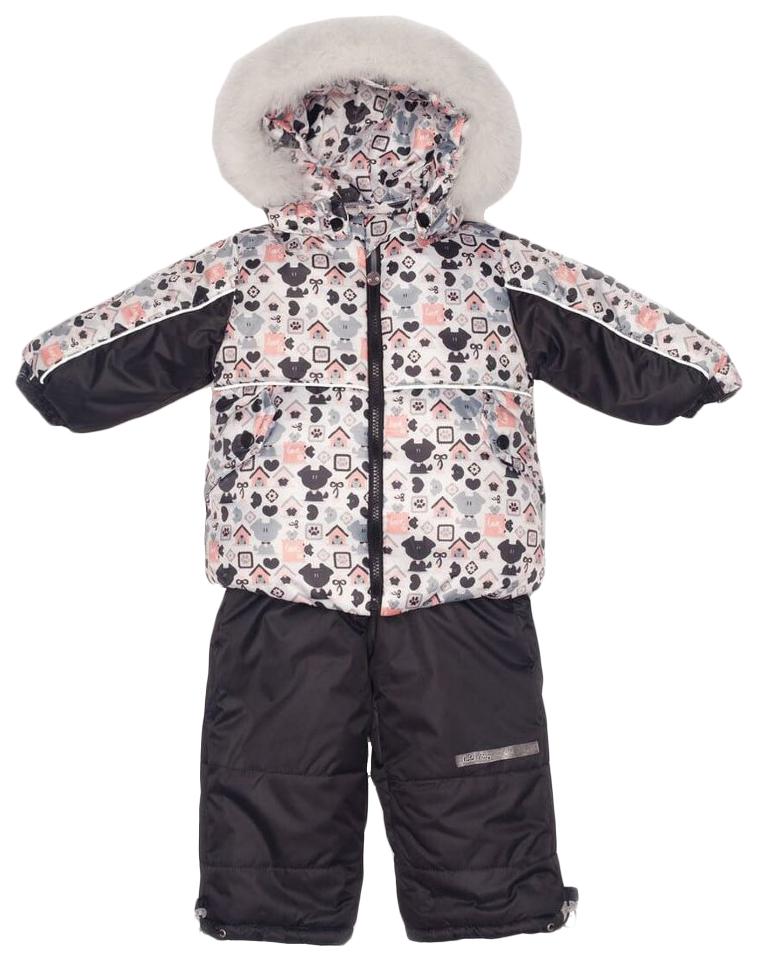 Комплект верхней одежды детский MalekBaby Собаки черный р.98