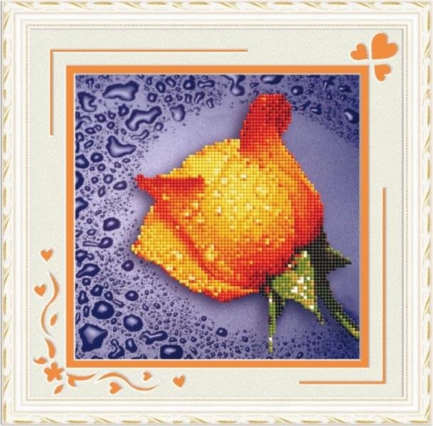 Мозаичная картина Желтая роза 80211