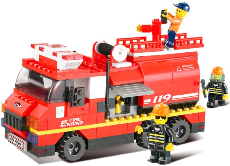 Купить SLUBAN Конструктор Пожарные спасатели 281 дет, в/к 32*25*5, 5 см JB900064, Конструкторы пластмассовые
