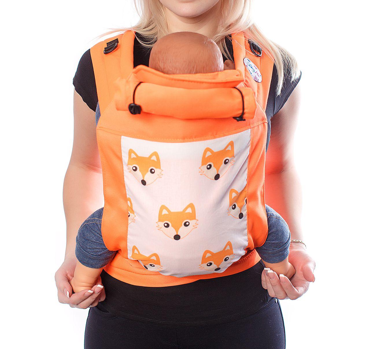 Купить Май-слинг, Май-слинг SlingMe Лисички оранжевый, Слинги для новорожденного