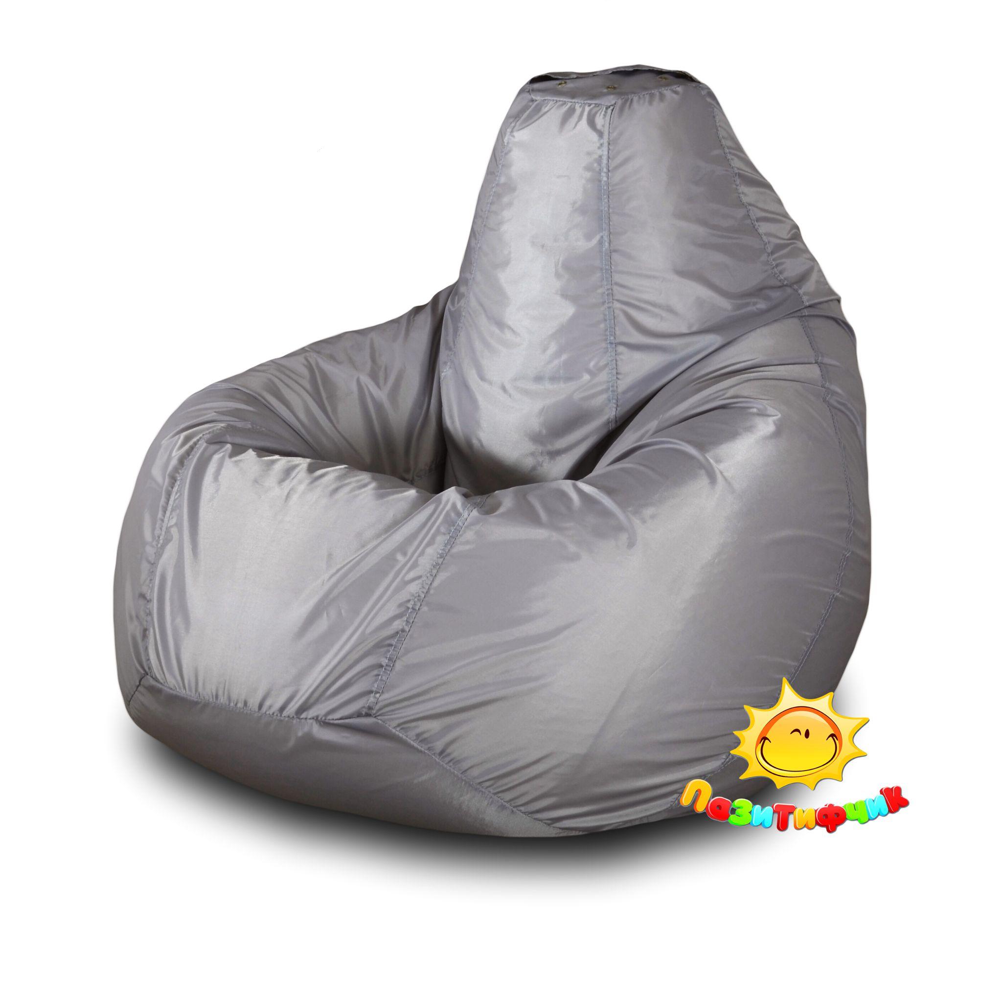 Кресло-мешок Pazitif Груша Пазитифчик Оксфорд, размер XL, оксфорд, серый фото