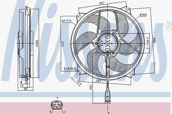 Вентилятор охлаждения двигателя NISSENS 85561
