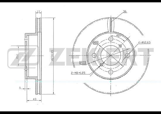 Тормозной диск ZEKKERT BS-5660