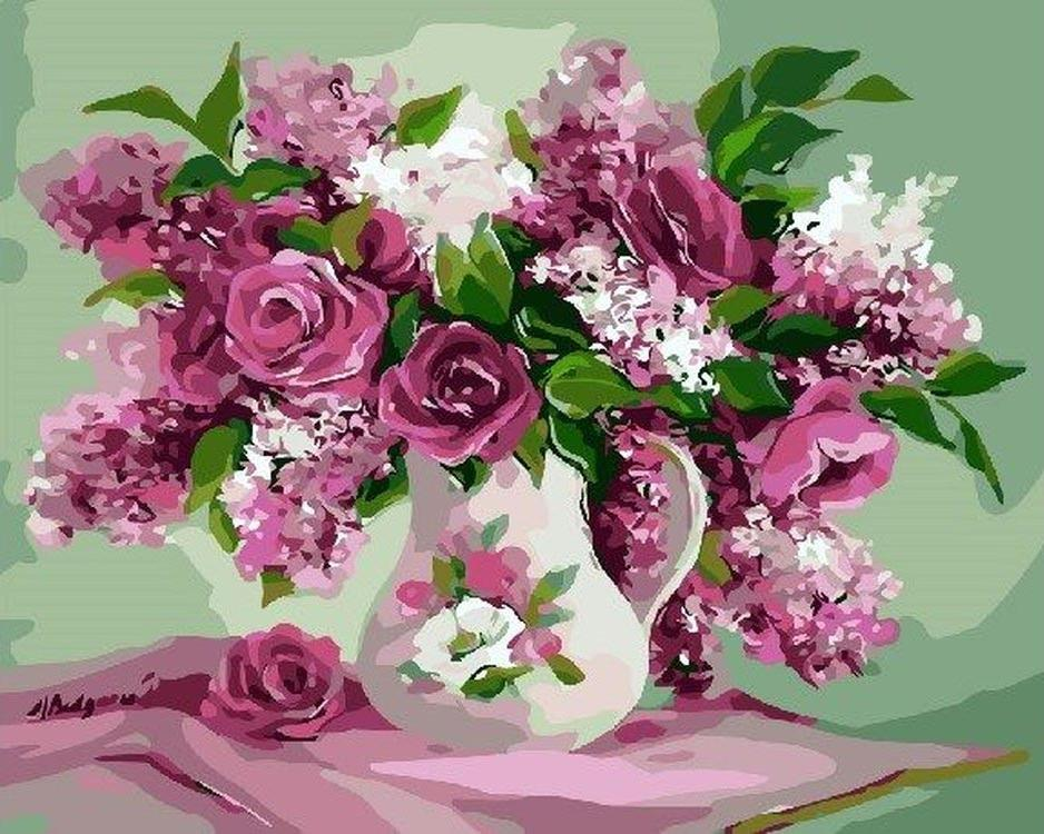 Открытка со цветком