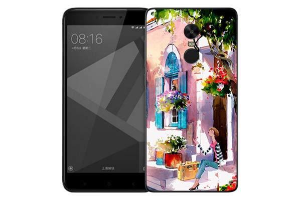 Чехол Gosso Cases для Xiaomi Redmi Note 4X «Девочка на цветущей улочке»