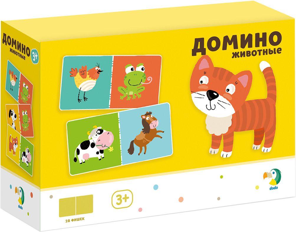 Купить Домино настольная игра Dodo Животные 18*12*6 R300137