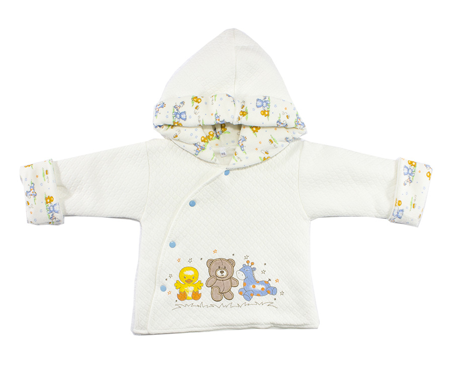 Куртка для девочек Осьминожка Т-3125В-20/62 белый р.62 фото