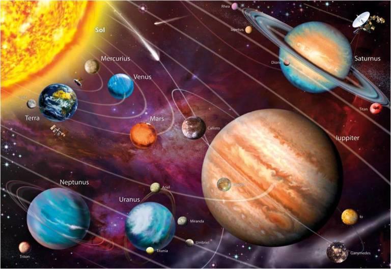 Пазл Educa 1000 деталей Солнечная система Пазлы с неоновым свечением