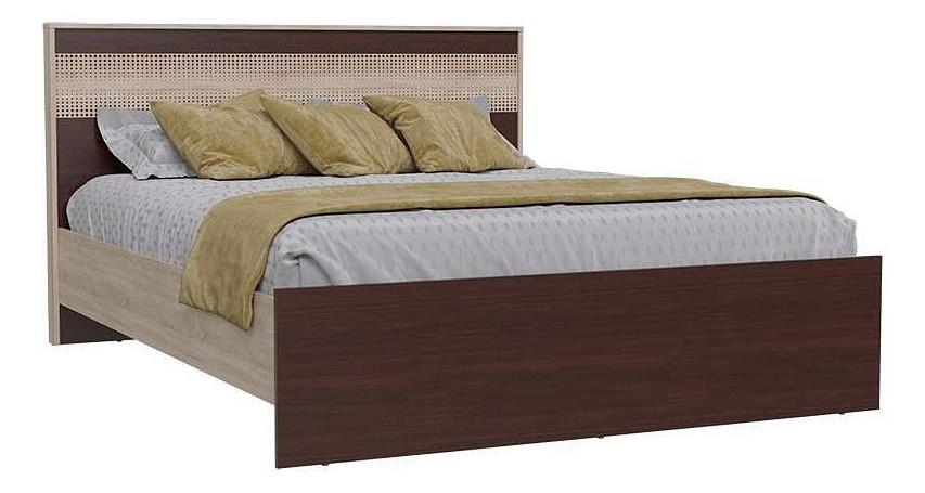 Кровать двуспальная Гранд-Кволити Румба 4-1824 160х200 см, коричневый/бежевый