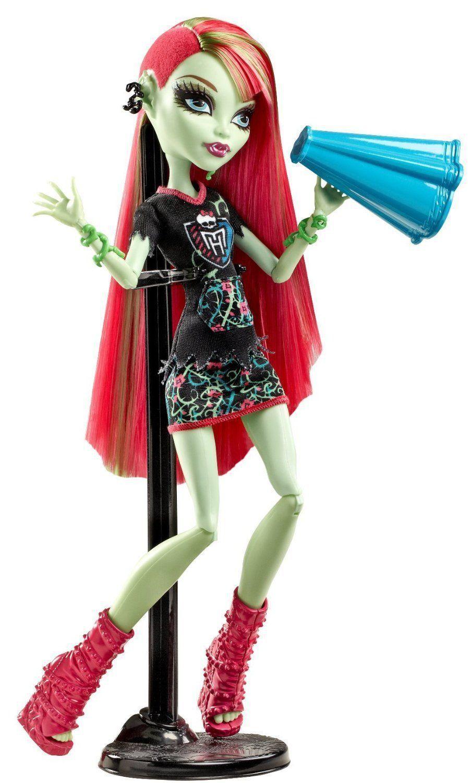 Купить Кукла Monster High Венера Макфлайтрап - Группа поддержки BDF09, Куклы Monster High