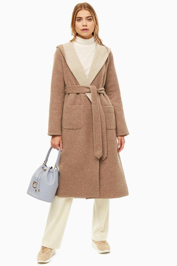 Пальто женское LA PINA коричневое