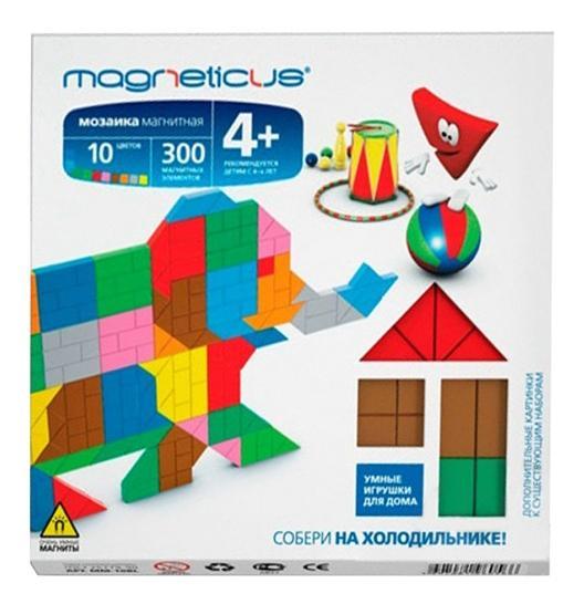 Купить Магнитная миди-мозаика Слон , 300 элементов, 10 цветов, МидиМозаика Magneticus Слон, Мозаики