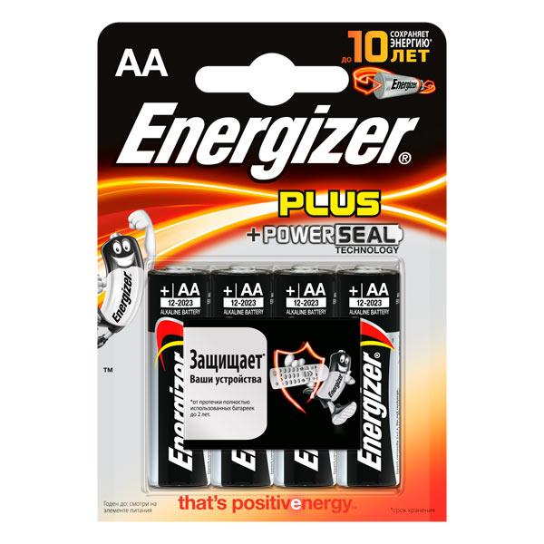 Батарейка Energizer Plus AA LR6 4 шт
