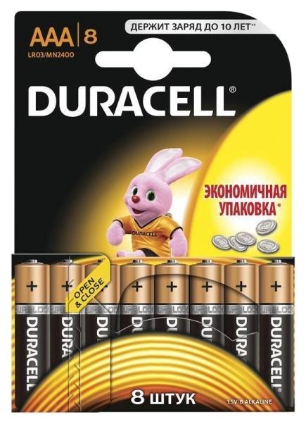 Батарейка Duracell Basic LR03/MN2400 8 шт