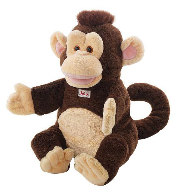 Купить Мягкая игрушка Trudi на руку Обезьяна, 25 см, Мягкие игрушки животные