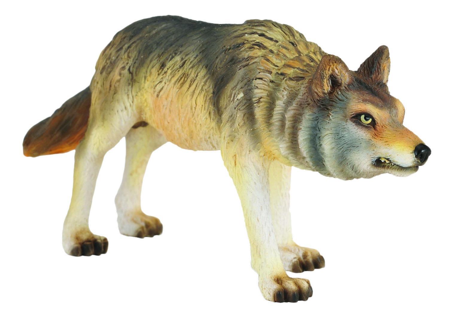 Фигурка collecta волк охотящийся, m 88342b