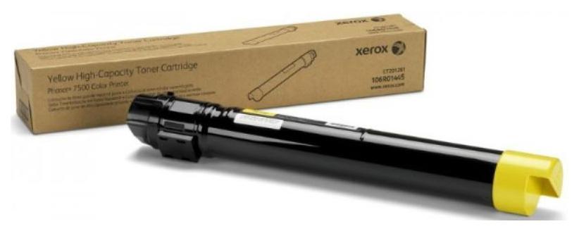 Картридж для лазерного принтера Xerox 106R01445, желтый, оригинал фото