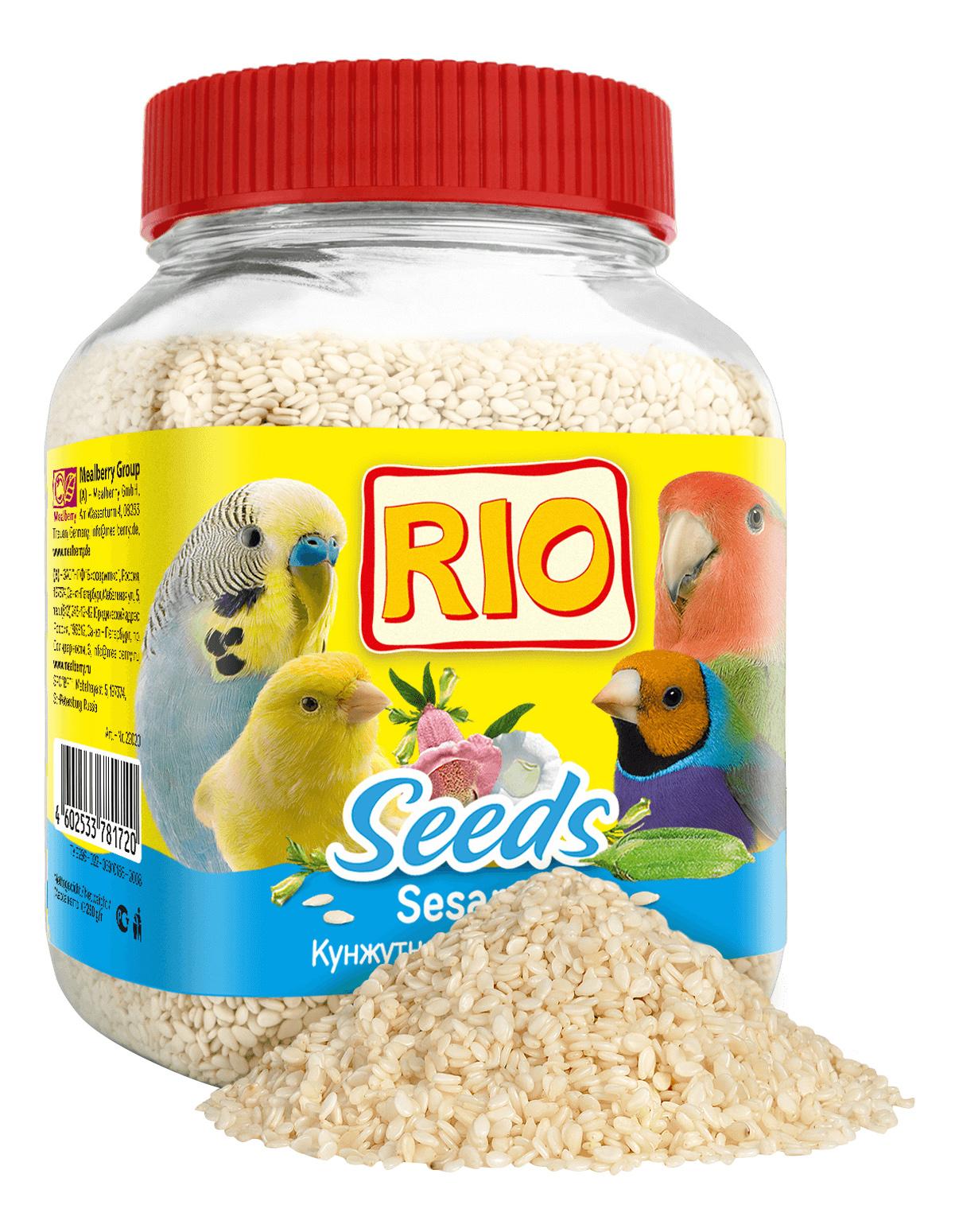 Лакомства для птиц RIO Кунжут, 250г фото