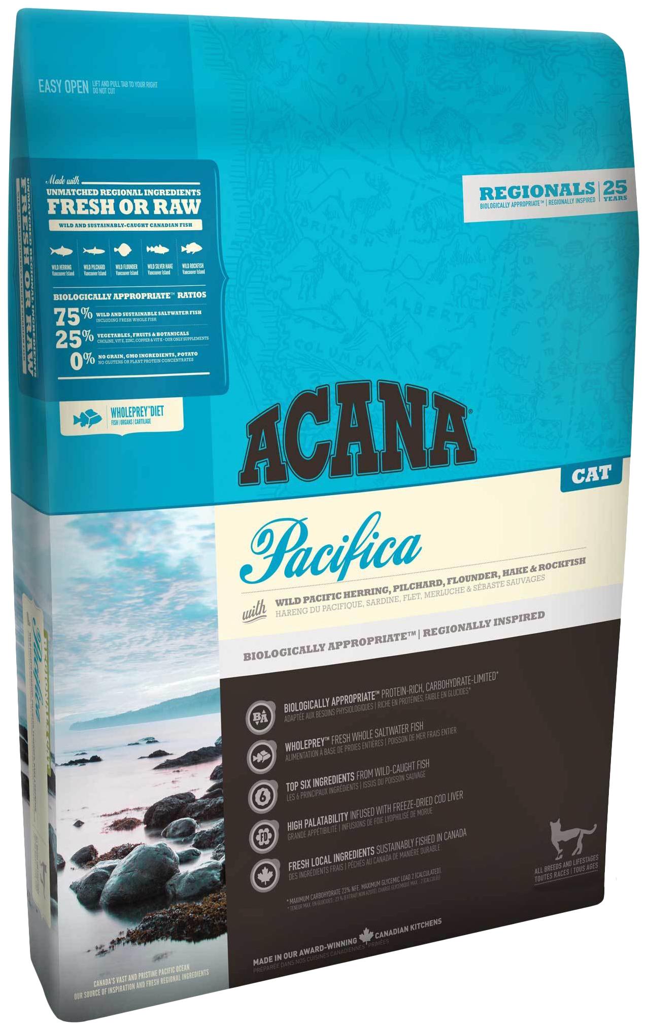 Сухой корм для кошек ACANA Regionals Pacifica, рыба, 1,8кг фото