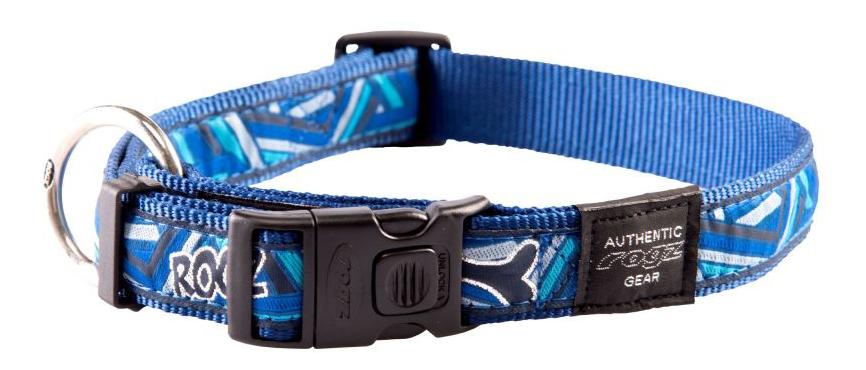 Ошейник ROGZ Fancy Dress HB02CD XL, 25 мм, синий