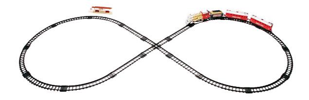 Купить Железная дорога 580 см, Железная дорога Голубая стрела 580 см, Детские железные дороги