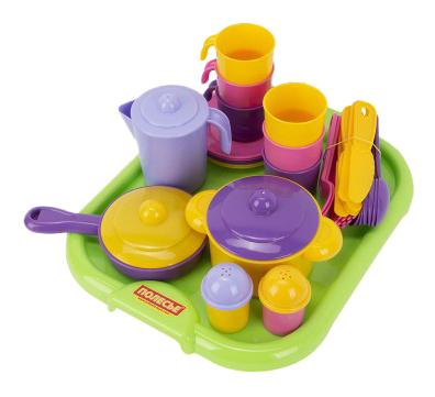Набор посуды игрушечный Полесье Настенька с подносом на 6 персоны