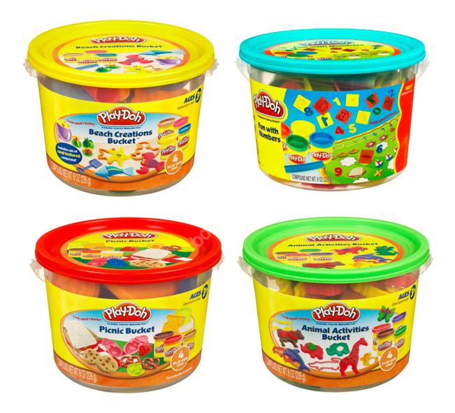 Набор для лепки из пластилина Play-Doh Ведерко с формочками