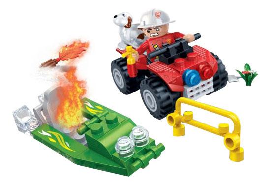 Конструктор пластиковый BanBao Пожарный Джип, 62 детали фото