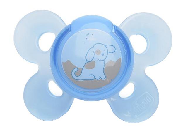 Силиконовая пустышка ортодонтическая Chicco Physio Comfort Lumi 0-6 Мес