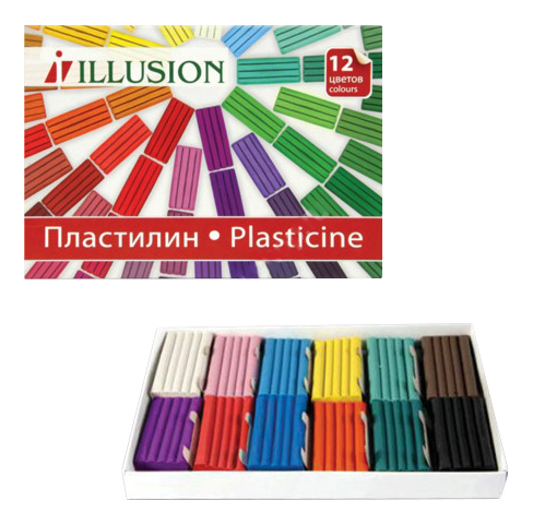 Пластилин Гамма Пластилин Гамма Illusion, 12 Цветов, 168 Грамм
