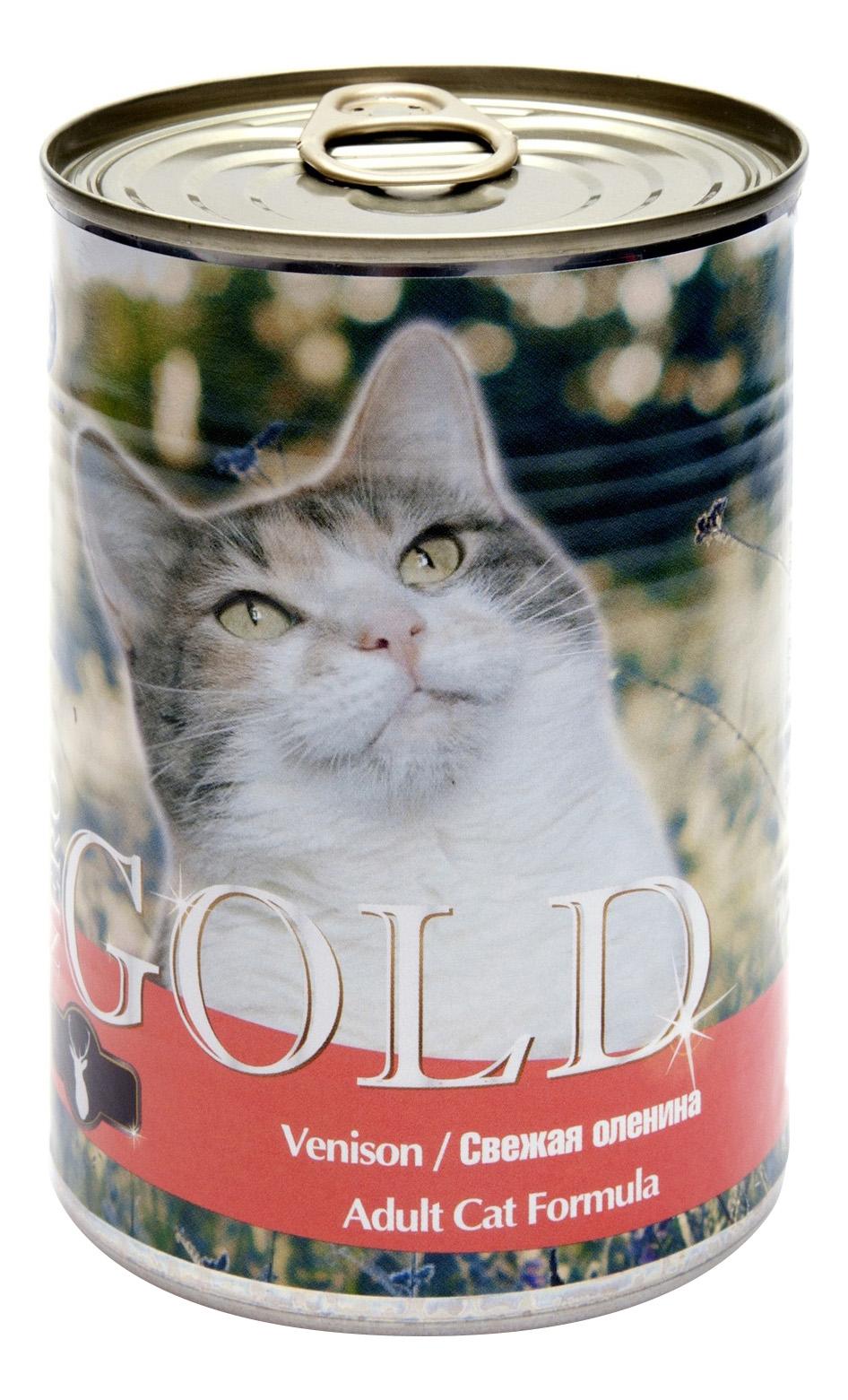 Консервы для кошек NERO GOLD, оленина, 810г
