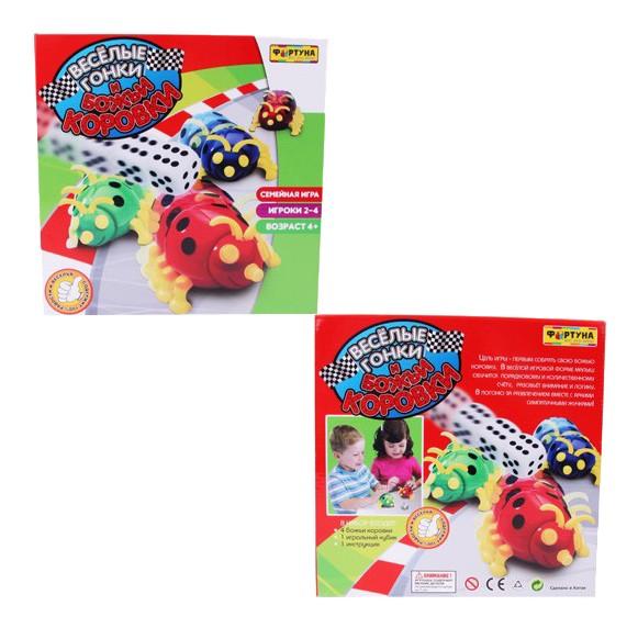 Семейная настольная игра Фортуна Веселые гонки, Божьи Коровки, Семейные настольные игры  - купить со скидкой