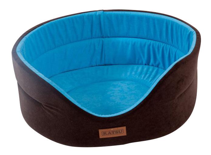 Лежанка для собак Katsu 62x70x25см коричневый, голубой