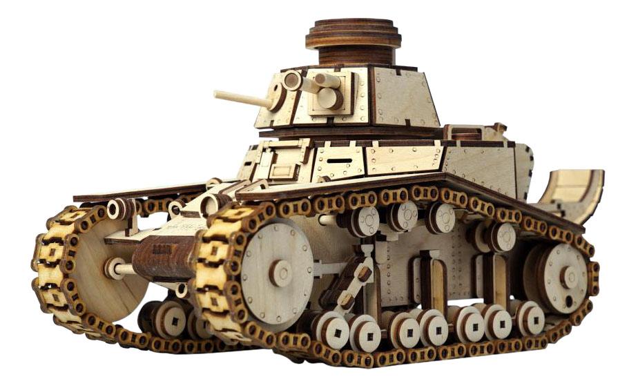Конструктор деревянный Lemmo Танк МС 1