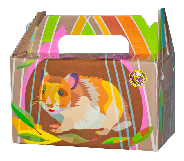 Переноска для грызунов Вака разноцветный картон