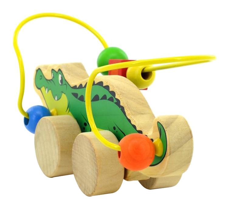 Купить Каталка детская Мир Деревянных Игрушек Крокодил, Игрушечные машинки